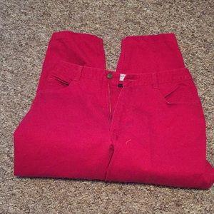 Gorgeous RED Talbots Petite 14 💯% Cotton Jeans